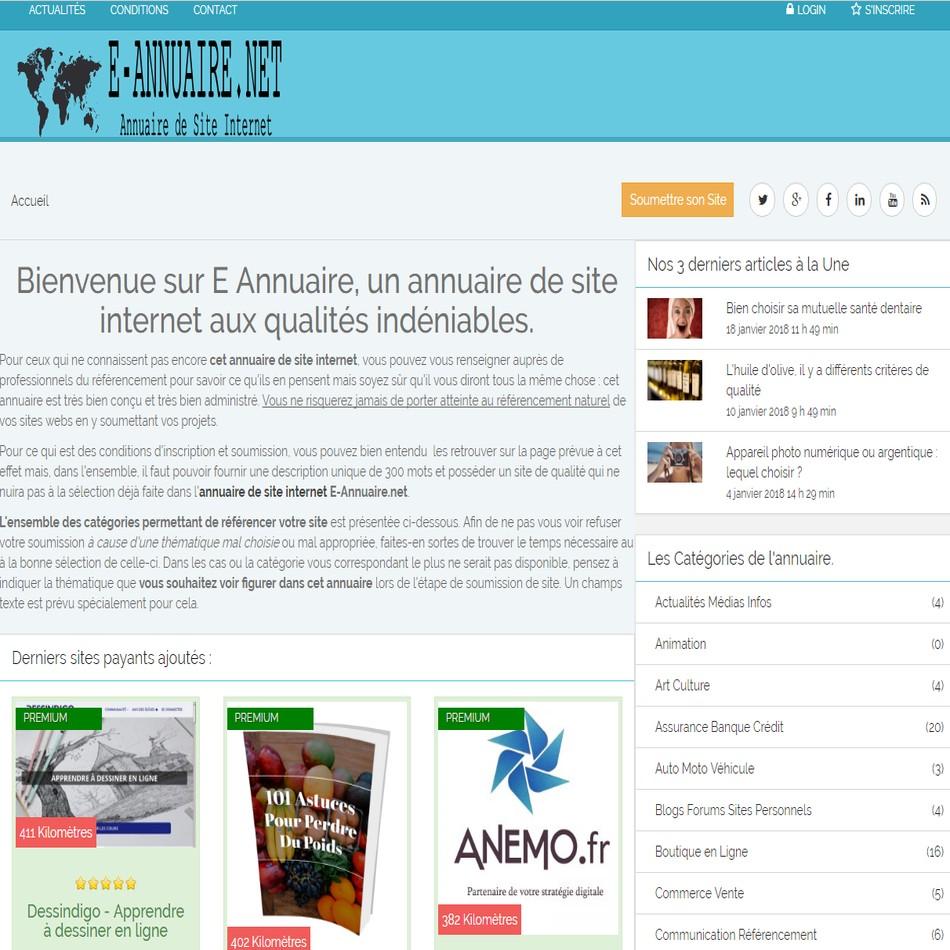 Annuaire payant E-annuaire.net